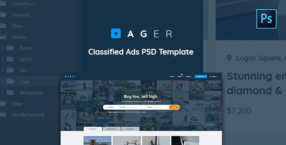 Ager - Classified Ads PSD Template - Business Corporate