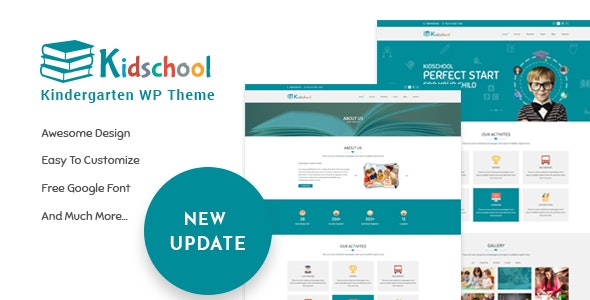 Kidschool - Kindergarten WordPress Theme - Education WordPress