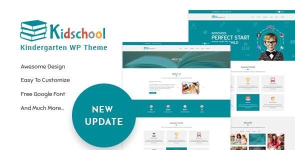 Kidschool - kids & Kindergarten school WordPress Theme - Education WordPress