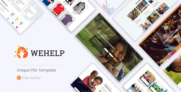 WeHelp - Nonprofit Charity Fundraising PSD Template - Charity Nonprofit