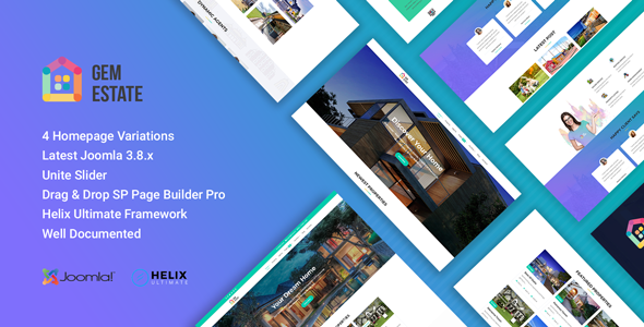 GemEstate Real Estate, Propety Joomla Template - Business Corporate