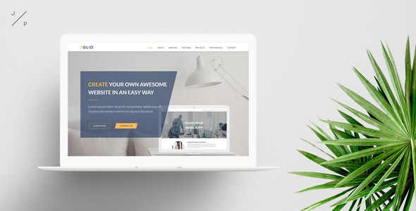 SOLID - Startup Business Muse Template - Corporate Muse Templates