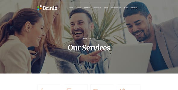 Brinlo - Creative agency startup business corporate PSD Template