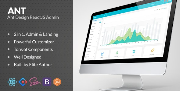 Ant Design ReactJS Admin with Bootstrap - Admin Templates Site Templates
