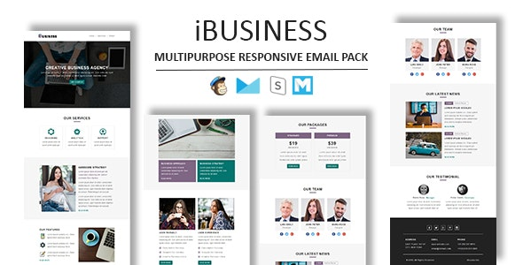 iBusiness - Multipurpose Responsive Email Template With StampReady Builder Access - Newsletters Email Templates