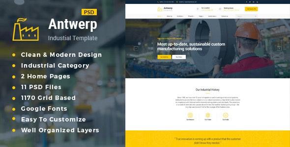 Antwerp : Industrial PSD Template - Business Corporate