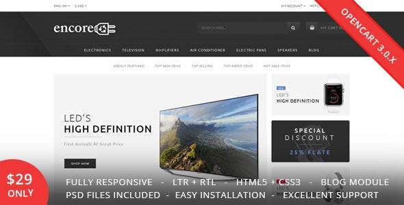 Encore - Electronics OpenCart 3.0.x Theme - Technology OpenCart