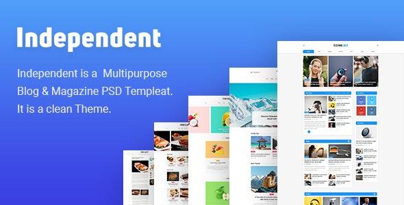Independent - Multipurpose Blog & Magazine Theme - Creative Photoshop
