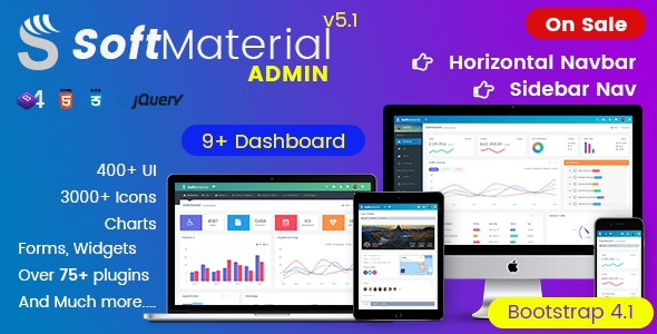 Soft Material - Bootstrap 4 Admin Templates Web Apps & UI
