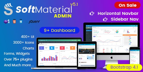 Soft Material - Bootstrap 4 Admin Templates Web Apps & UI Kit Dashboards