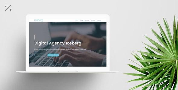 Iceberg - Digital Agency Muse Template - Corporate Muse Templates