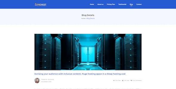 Prehost - Domain & Hosting PSD Template