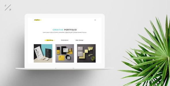 MAKO - Creative Agency Portfolio Muse Template - Creative Muse Templates