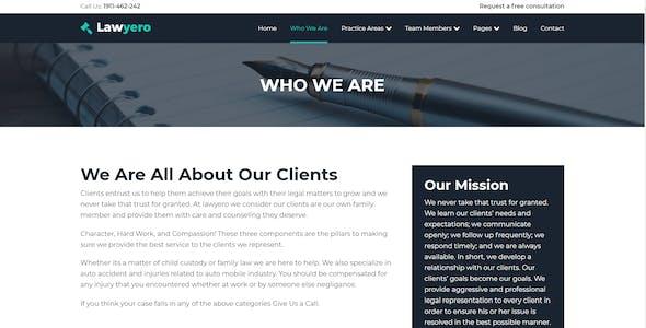 Lawyero - Attorneys & Lawyer  WordPress Theme