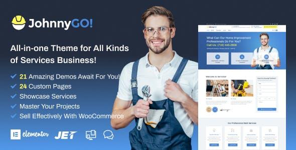 JohnnyGo - Handyman Service Elementor WordPress Theme