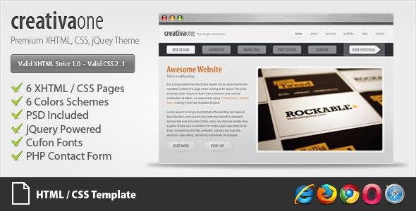 creativaone - Creative HTML/CSS Theme - Creative Site Templates