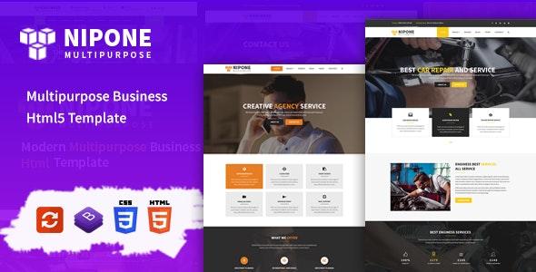 Nipone – Multipurpose Business HTML5 Template - Corporate Site Templates
