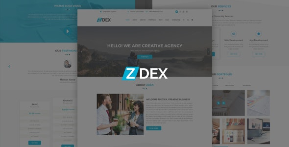 Zdex Multipurpose Business and Agency Template - Corporate Photoshop