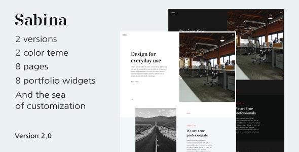 Sabina — HTML Template For Digital Agency With Portfolio And Blog - Portfolio Creative