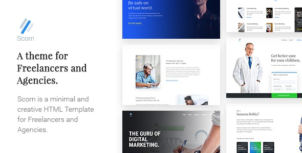 Scorn - Freelancer and Professional Landing Page Template - Marketing Corporate