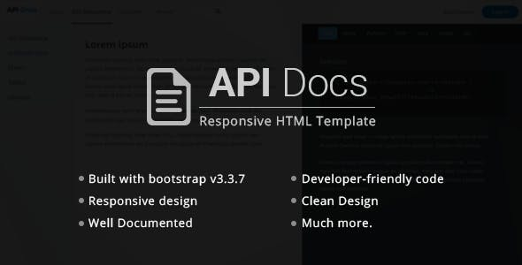 Api Docs Rest Api Documentation Templates By Pixxet Themeforest