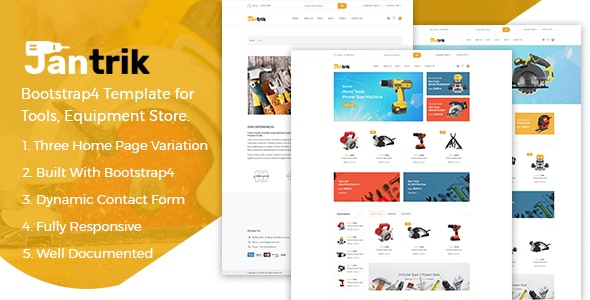 Jantrik - Tools Equipment Store eCommerce HTML Template - Shopping Retail