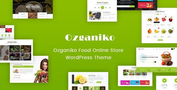 Ozganiko - A Organic Store And Food Shop WordPress Theme