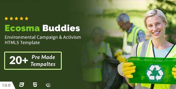 Ecosma Buddies - Environmental Campaign & Activism HTML5 Template