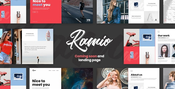 Ramio - Clean Coming Soon and Landing Page Template - Under Construction Specialty Pages