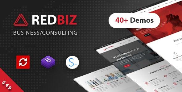 RedBiz - Finance & Consulting Multi-Purpose WordPress Theme - Business Corporate