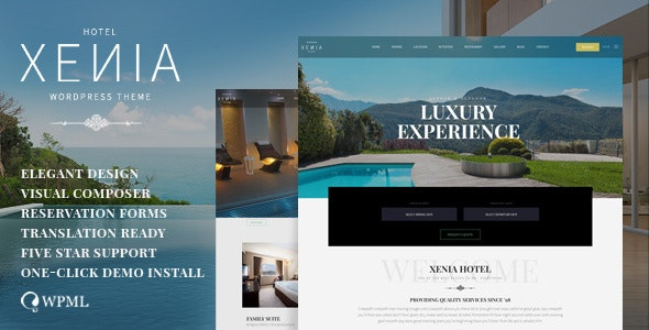 Hotel Xenia - Resort & Booking WordPress Theme - Travel Retail