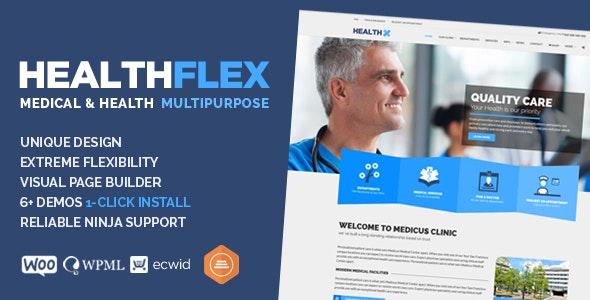 HEALTHFLEX - Doctor Medical Clinic & Health WordPress Theme - Health & Beauty Retail