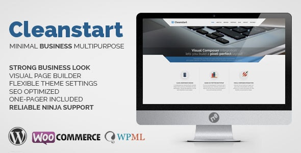 Corporate Business WordPress Theme - Cleanstart - Business Corporate