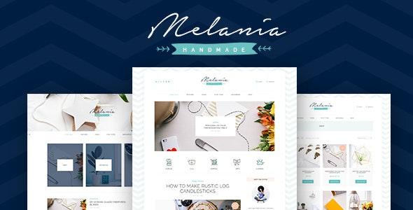 Melania | Handmade Blog & Shop WordPress Theme - Personal Blog / Magazine