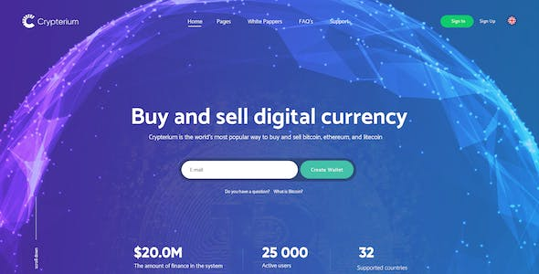 Crypto Trading HTML Website Templates from ThemeForest