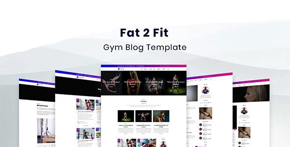 Fat2Fit — Fitness, Gym, Sport Blog HTML Template - Health & Beauty Retail