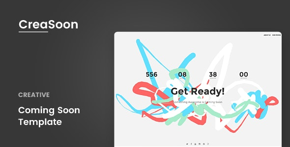 CreaSoon - Creative Coming Soon Template - Landing Pages Marketing