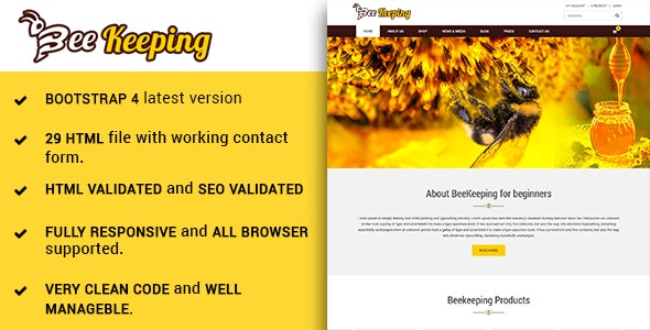 BeeKeeping - Multipurpose houny bee responsive HTML5 template - Shopping Retail