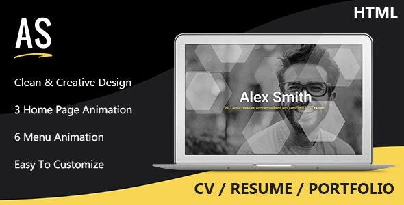 Alex - CV / Resume / Portfolio - Resume / CV Specialty Pages