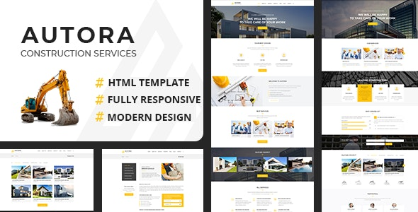 Autora - Construction Business HTML Template - Business Corporate