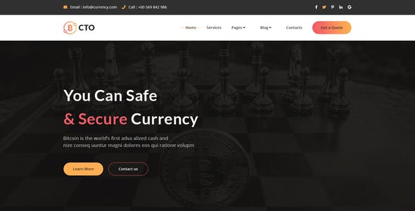 CTO - Crypto Currency PSD Template