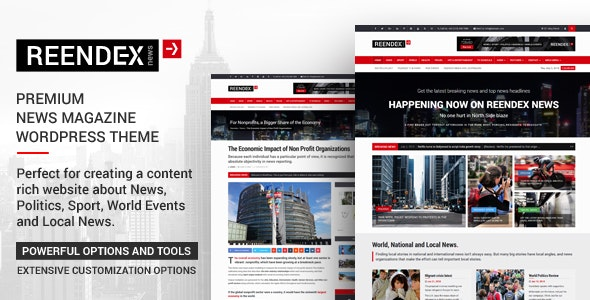 Reendex - Broadcast News Magazine WordPress Theme by Via