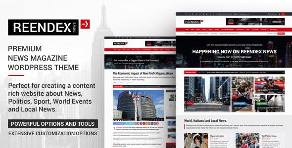 Reendex - Broadcast News Magazine WordPress Theme