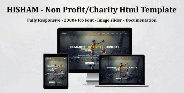 HISHAM - Non Profit/Charity Html Template - Nonprofit Site Templates
