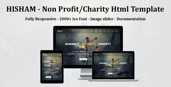HISHAM - Non Profit/Charity Html Template