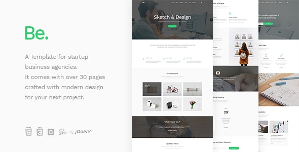 Be - Startup Business HTML Template - Corporate Site Templates