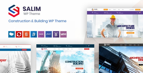 Salim - Construction and Building WordPress Theme - Business Corporate