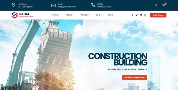Salim - Construction and Building WordPress Theme