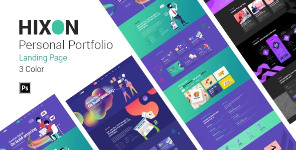Hixon - Personal Portfolio Landing Page PSD Template - Portfolio Creative