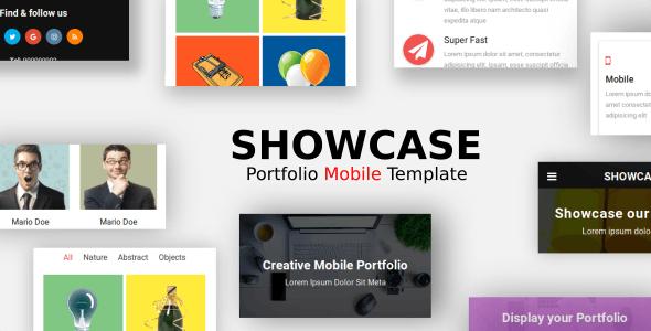 Showcase - Portfolio Mobile Template - Mobile Site Templates